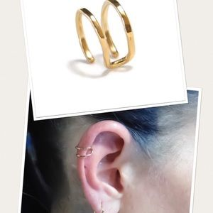 ➰firm➰ Double Ear Cuff - Fake Cartilage Earring